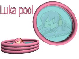 Mmd Luka pool accessory dl by Kakudo-Sama
