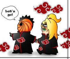 Tobi and Deidara by Zzzeus