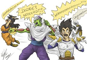 Dodge and.....Ghost Nappa!!! by sarumanka