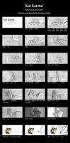 Kat Karma - storyboards - Part 1 by RozlynnWaltz