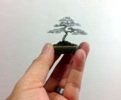 Tiny Mame Wire Bonsai Tree Sculpture by Ken To by KenToArt