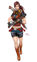 Claire Redfield render Onimusha Soul by Queen-Stormcloak