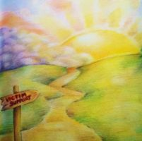 The path to Enlightenment - Colour pencil by MissTangshan95
