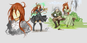 Character of Stylc_ some sketches by AshiPhoenix