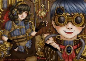 Steampunk world by evilshara