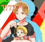 Italy and Chibi! Germany by FisshFacce480