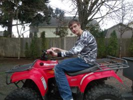 Me on the old ATV by Highlynx