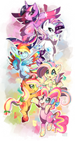 Rainbow Power!! by ChocoChaoFun