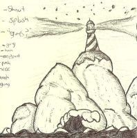 Stickynote Lighthouse. F--- my Blurry Scanner by BPriceOnPluto