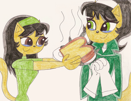 I gave Kitty Katswell an anchovy sandwich by Magic-Kristina-KW
