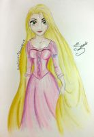 Rapunzel (from Tangled) by alexiross