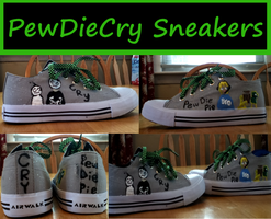 PewDieCry Sneakers by 12341smiley