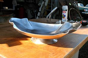 Crenelated Elliptical Fruit Bowl by ou8nrtist2