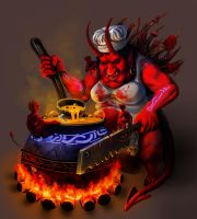 Hell cook by PurpleLemon13
