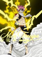 Natsu Flame Lightning by TrouperDNico