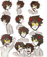 karkat facies by finnick-odairs