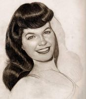 bettie page unfinished by beckhanson