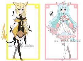 Pokemon inspired adoptable batch CLOSED by AS-Adoptables
