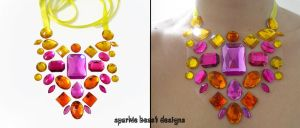 Tutti Frutti Floating Gem Necklace by Natalie526