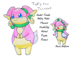 Bio: Taffy the Tabunne-Audino by Nijihamu-can