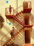 Stairs and Balloons by errantdervish