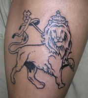 Sarah's Lion of Judah Tattoo by scumbugg