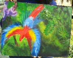 Colorful Parrot by supernaturalartlover