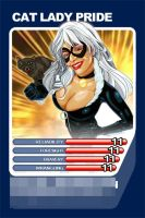 Top trump card - Spiderman The Black Cat by chilli49shorty
