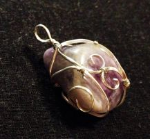 Reversible Wire-Wrapped Amethyst Pendant by FaerieForgeDesign