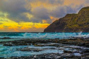 Makapu'u Beach Lighthouse I by shod