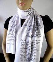 THE DIVINE COMEDY Book Scarf Literary Scarf Dante by LiteraryArtPrints