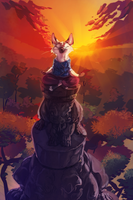 The sunset climber by Konnestra