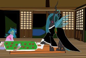 Queen Chrysalis has a Change of Heart by OceanRailroader