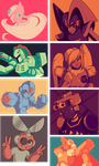 Megaman Palettes by Ruaniamh