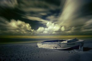Yellow Sea + Boat by Live4soul