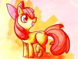 Apple Bloom by malloweater