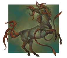 Cthulhu's horse by Drkav