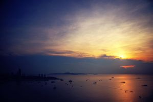 Sun, Sky, Sea, Ships, Shore and Shade by slowriot