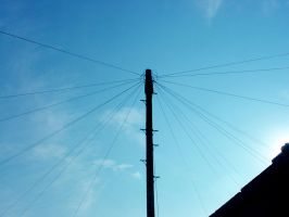 Telegraph Pole Silhouette by StooStock