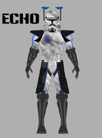 Clone Trooper Echo by JediAnakinSkyguy