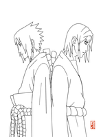 Orochimaru's Children lineart by sharingandevil