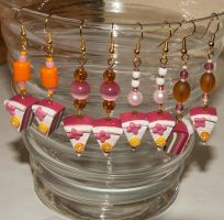 Pink Cake Earrings Overview by Ravensilver