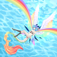 DTA - Rainbow Fairy by Bellisaurus