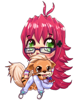 .:C:.Amber and Growlithe by Memainc