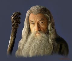 Gandalf painting by FantasminhaCamarada