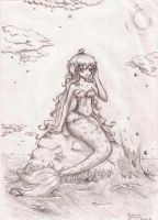 mermaid by kumo-e
