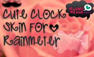 Cute Clock Skin Rainmeter by SoBeautyAndBeat