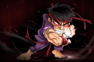 SF chibi series_evil RYU by metooh