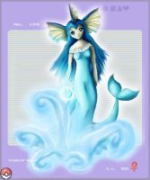 Gijinka Project - Vaporeon by JennyWheat