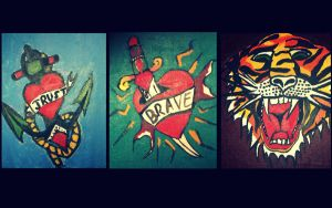 Painted Tattoos by amirroredshadow